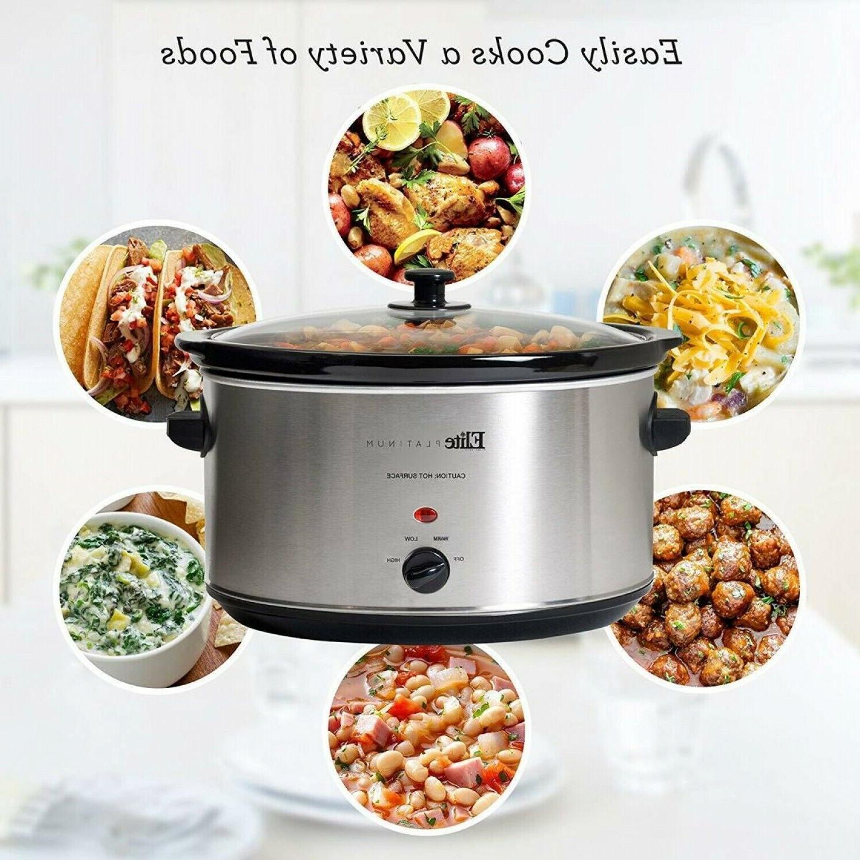 8.5 Quart Crock-Pot Slow Cooker Large Oval Stainless Steel