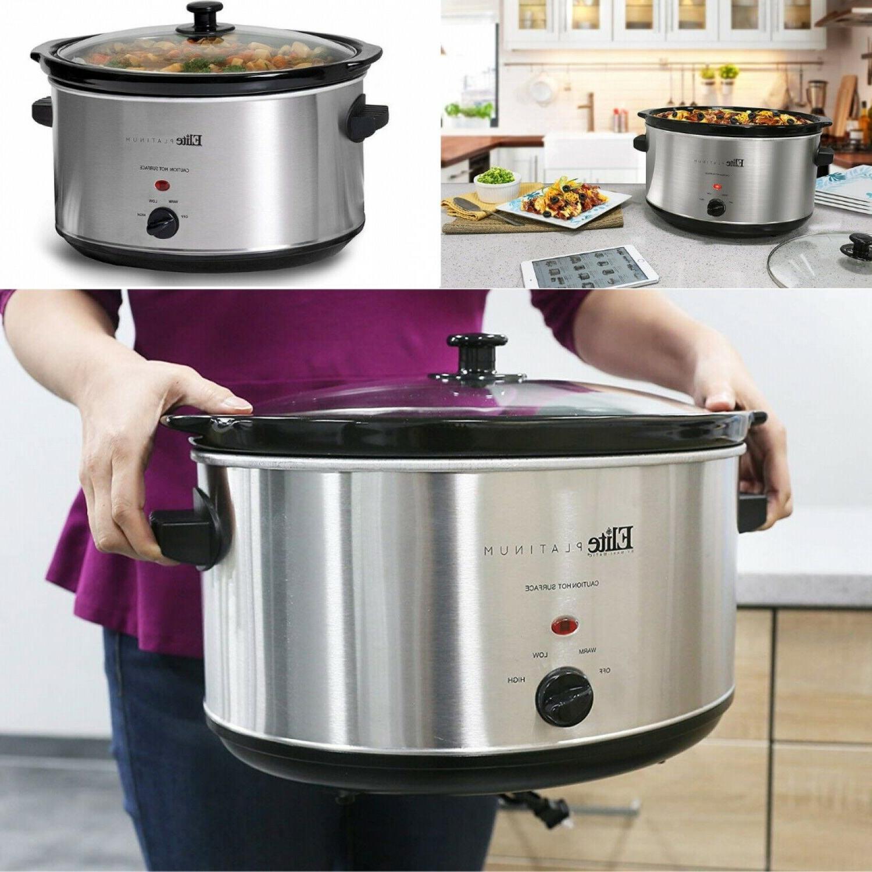 8.5 Quart Crock-Pot Slow Cooker Large Stainless Steel