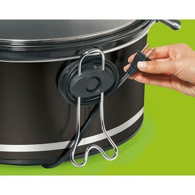 8 Quart Black Slow Cooker Temperature Settings Lid