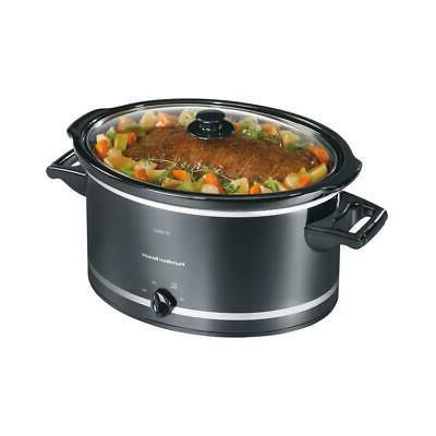 8 quart black slow cooker temperature settings