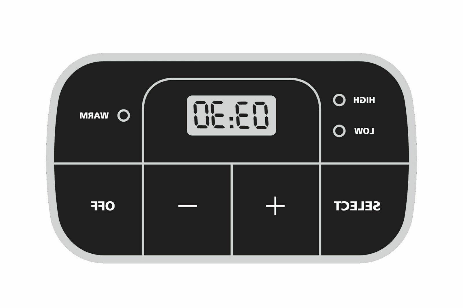 8-Quart Programmable Digital Timer Shape Serves
