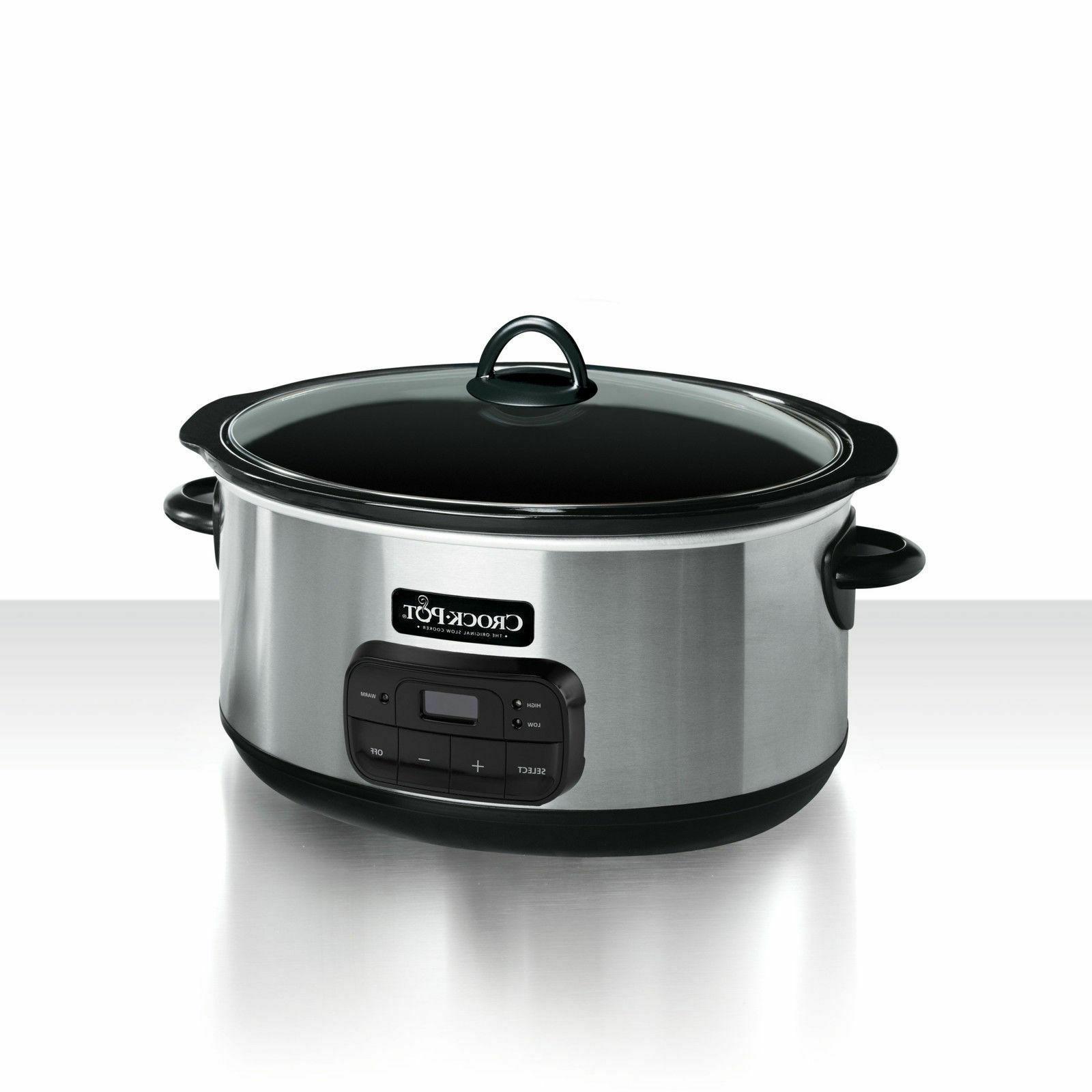 8 quart programmable slow cooker digital timer