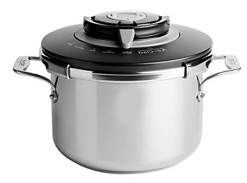 All-Clad PC8 Precision Steel Pressure Cooker Cookware, 8.4-Quart, Silver