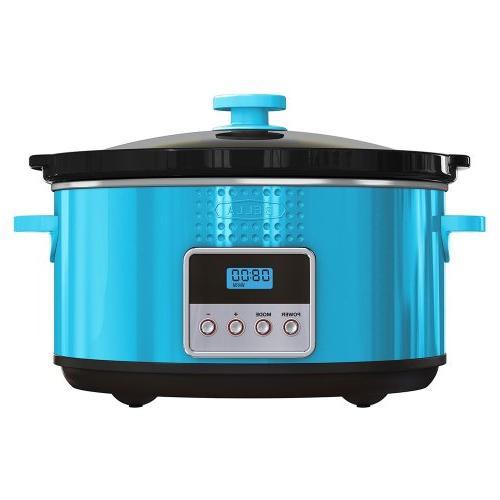 BELLA 13996 Dots Programmable Cooker, 5-Quart, Teal