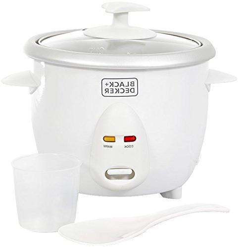 Black & Decker RC650 350W 0.6 L 2.5 Cup Rice Cooker , White