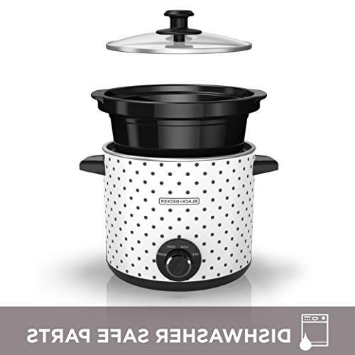 Black & Slow Cooker, Black/White,