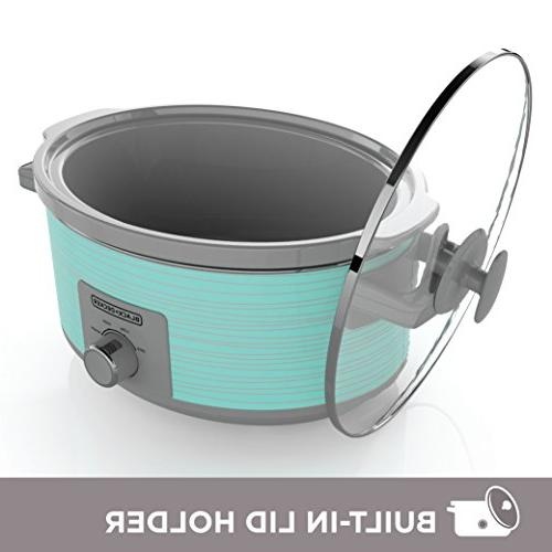 Black Decker Cooker, Quart, Teal Wave