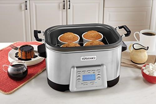 Crock-Pot 5-in-1 with Non-Stick Inner Pot, Stainless