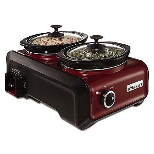 Crock-Pot Entertaining System, Red 2Qt Round Oval