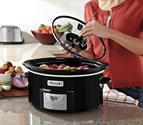 Crock-Pot SCCPVC600AS-B 6-Quart Digital Slow Cooker with iStir Stirring System,