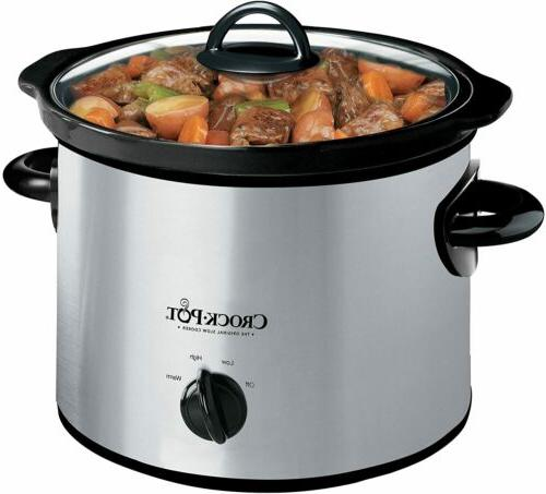 Crock-Pot Scr300Ss 3-Quart Round Manual Slow Cooker
