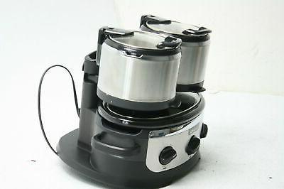 Crock-pot - Swing And Serve 6.5-quart Slow Cooker - Brushed