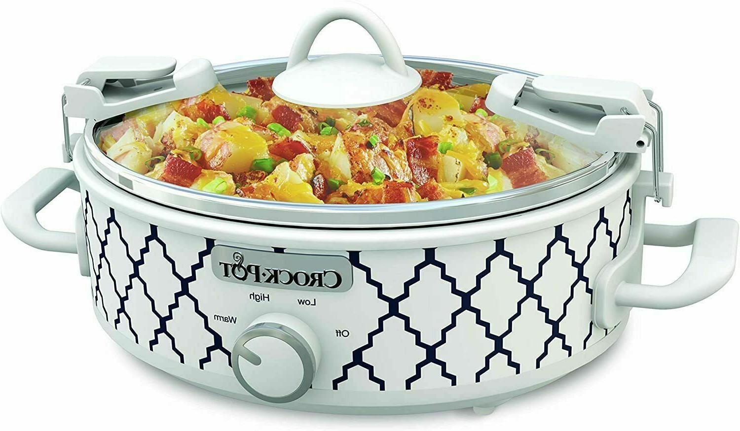 Crockpot 2.5-Quart Mini Casserole Crock Slow Cooker, White/B