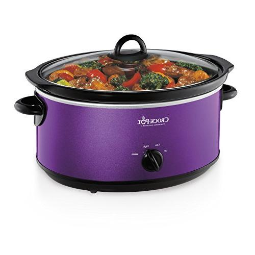 Crockpot SCV700-KP Shine 7QT Slow Cooker, Purple
