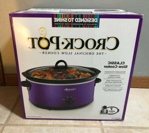 Crockpot SCV700-KP Shine 7QT Cooker, Purple