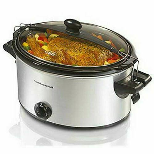 Hamilton Beach - Stay Or Go 6-quart Slow Cooker - Silver