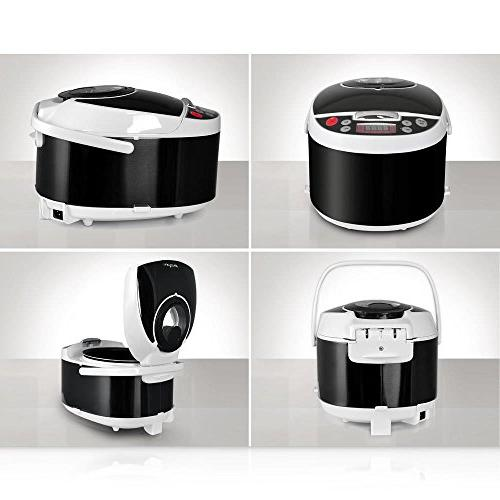 NutriChef Digital Slow Cooker, 9.04 Black