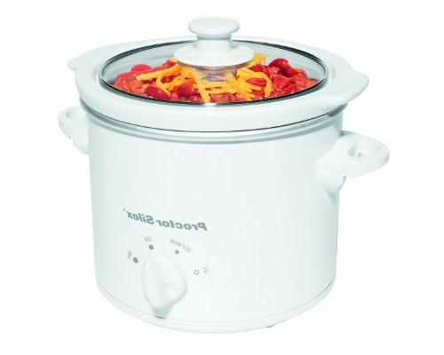 Proctor-Silex 1.5-Quart Round Slow Cooker/ Party Dipper, Whi