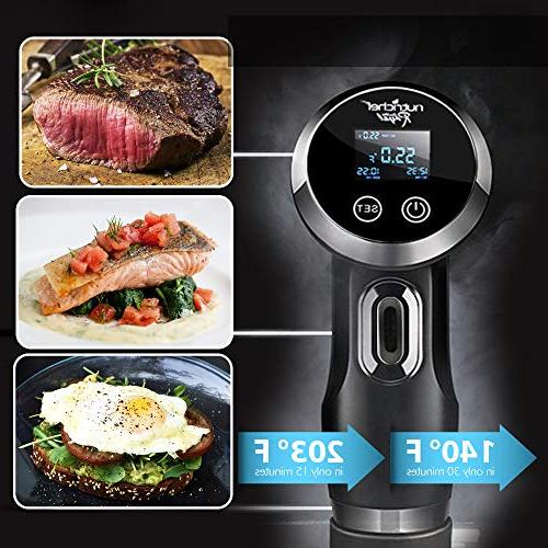 Sous Immersion Circulator Cooker - Stainless Steel Chef Cooking with Digital Time / Temperature Deep PKPC235BK