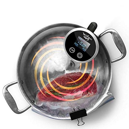 Sous Immersion Cooker - Stainless Chef Precision Machine with Digital Temperature - Clips Deep - PKPC235BK