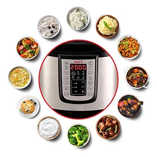 T-fal Cooker, Pressure Fryer, 25 Programs, 6 Silver