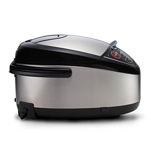 Tiger 5.5-Cup Rice Cooker Steamer Stainless Black