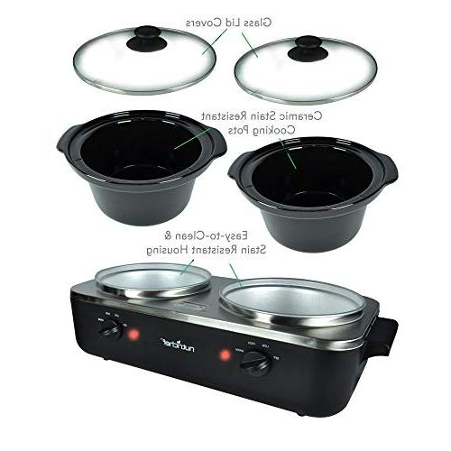 Upgraded Cooker Food Food Warming Soup Extra 5.3 Easy Steel, for Parties &