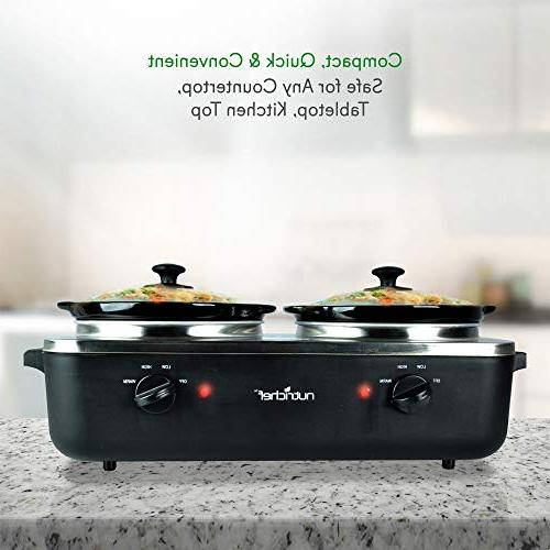 Upgraded Electric Cooker Crock Food Warmer, Food Soup Cooker Extra 5.3 Quart Easy for & Max