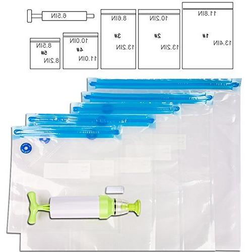 VNHOME Sous Vide Vacuum Bags, Kit for Anova, Sansaire, Hand Vacuum Pump, x Easy for Food Storage Cooking