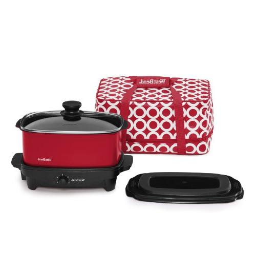 Slow Cooker with Tote Lid, 5-Quart,
