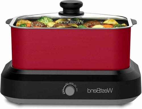West Bend 84915R Versatility Slow Cooker with Insulated Tote