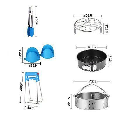 Instant Pot Accessories – Fits6,8qt Pressure - Steamer Basket Pack