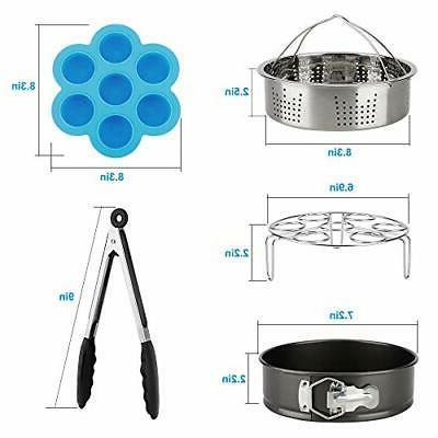 Accessories Set Instant Pot Compatible Qt 8 Steamer Basket