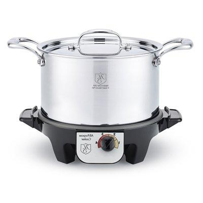 american clad 7 ply stainless 5 qt stock pot w lid slow cook