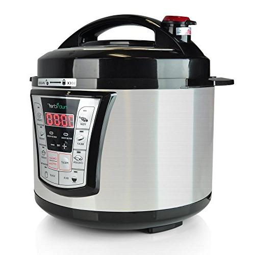 NutriChef Multi-Cooker Cook Pot - Rice & with Controls Built-in Programmable |