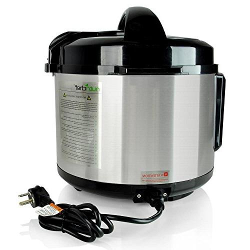 NutriChef Multi-Cooker Pressure Pot Rice with Digital | 5+ Stainless