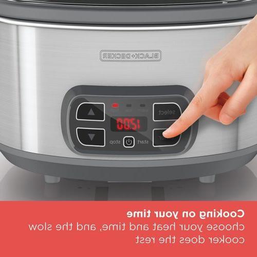 BLACK+DECKER 7 Slow Cooker Timer,