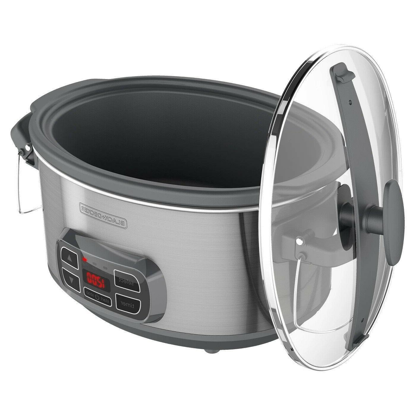BLACK+DECKER 7qt Locking Digital Slow Cooker