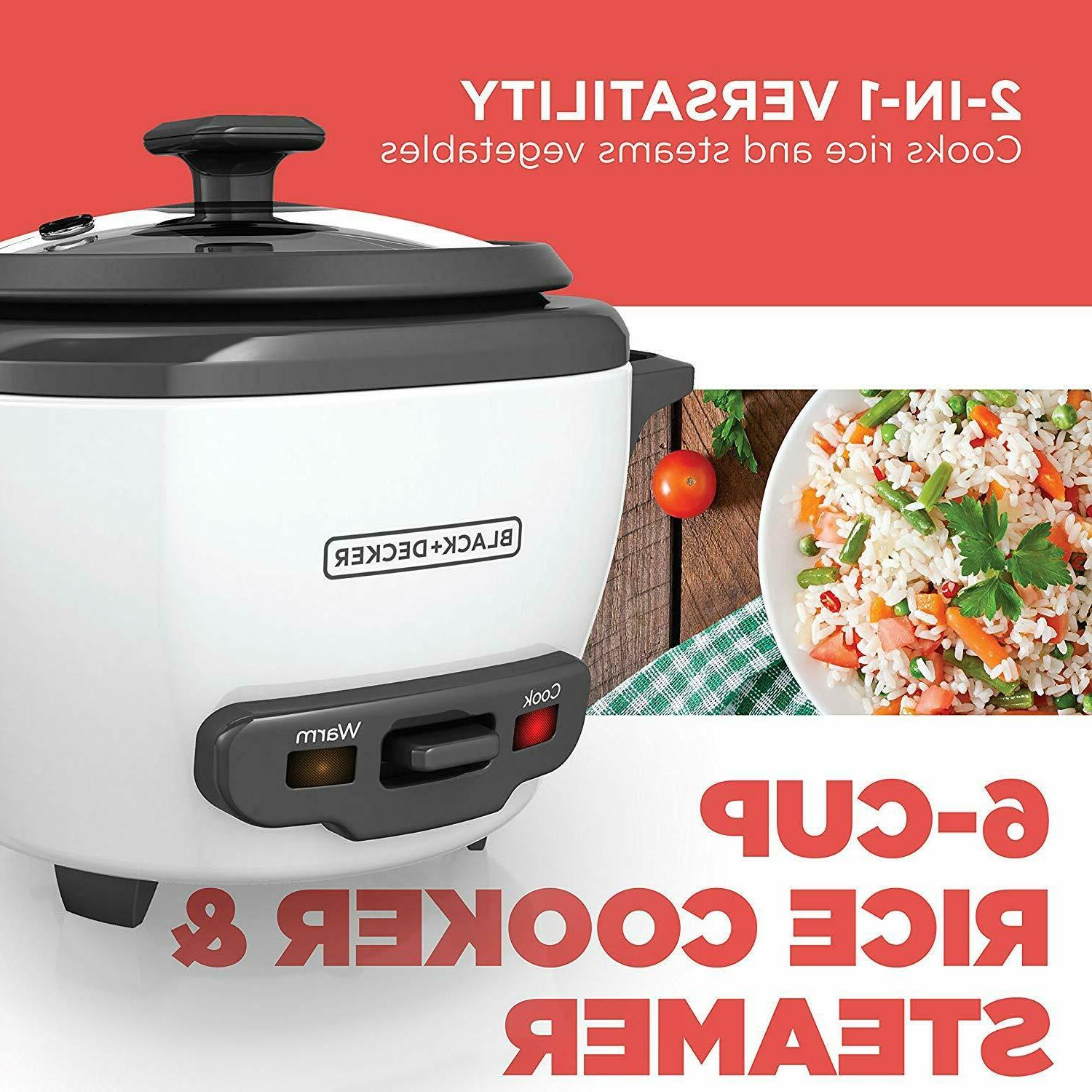 BLACK+DECKER 6-Cup Cooked/3-Cup Uncooked Cooker Food Steamer,