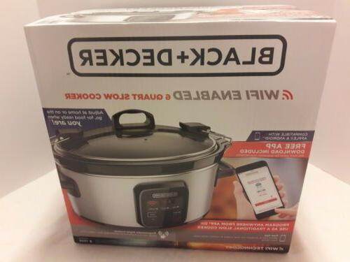 black decker wifi enabled 6 quart slow