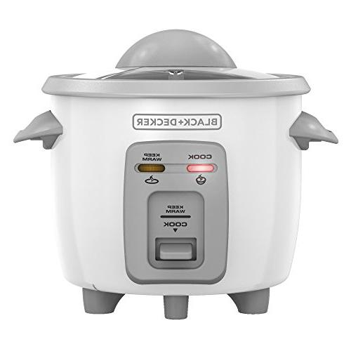BLACK+DECKER 1.5-Cup Dry/3-Cup Cooked Compact Rice White