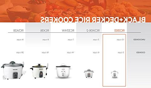 BLACK+DECKER RC3303 Cooked Rice White