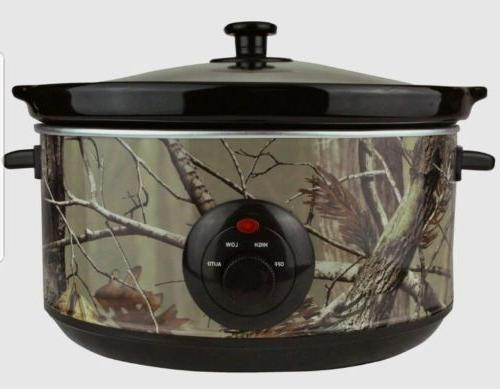 BRAND NEW! REALTREE REAL TREE 5 QT CAMO CAMOUFLAGE SLOW COOK