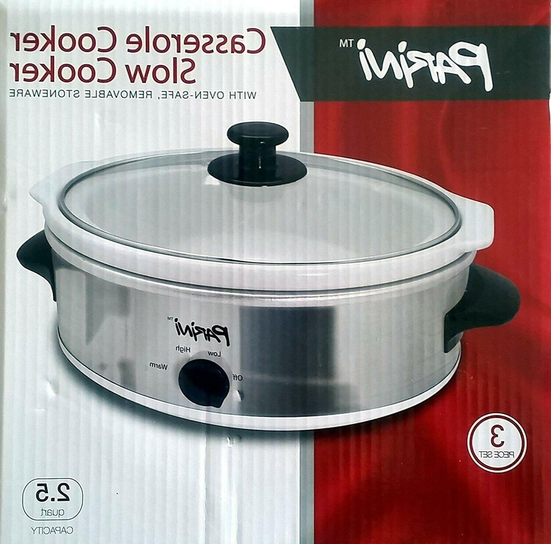 casserole cooker slow cooker 2 5 quart