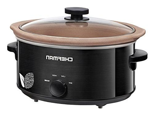 Chefman Slow Cooker, Natural Pot, Oven, The Only Nonstick Paleo Certified Cooker, Free