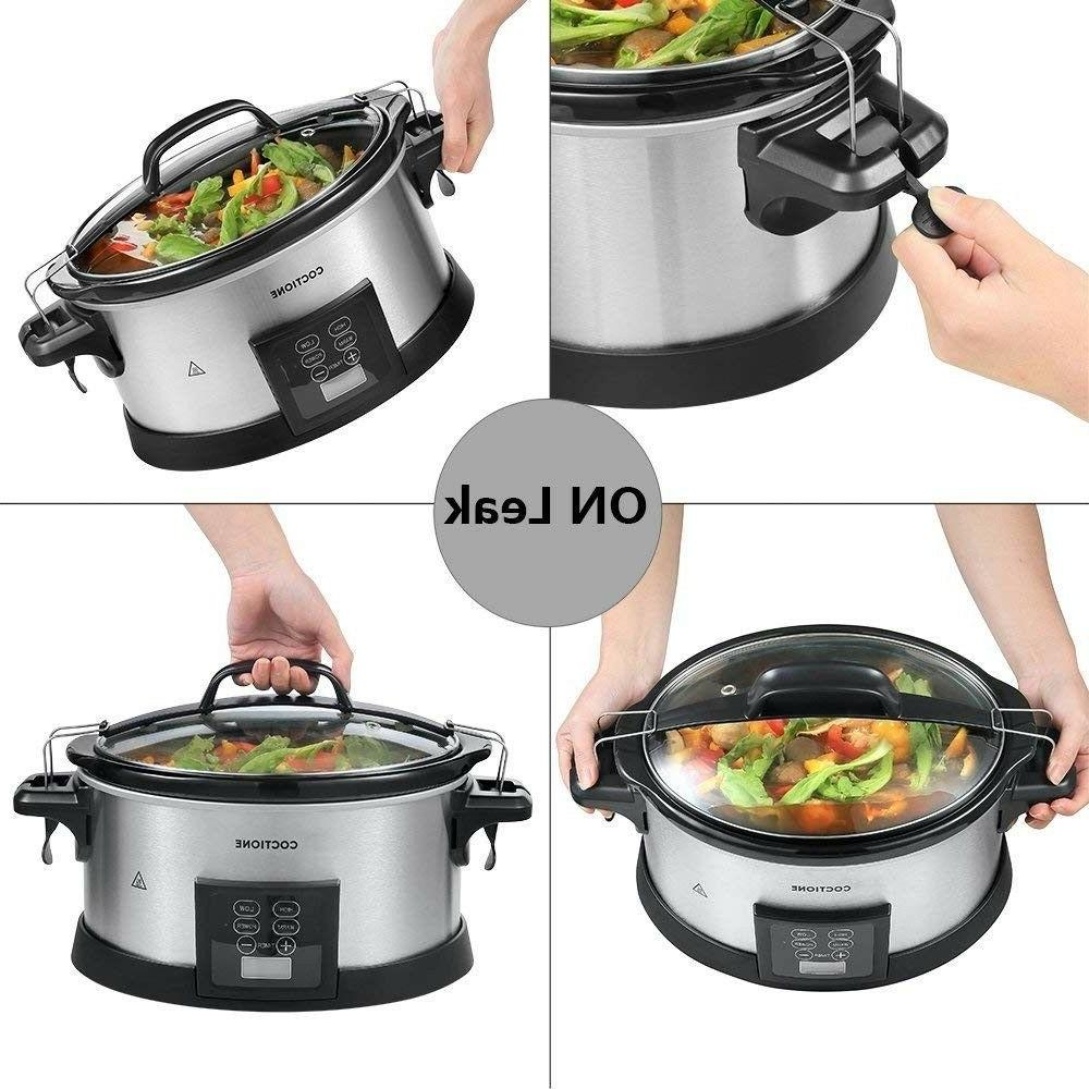 COCTIONE Quart Shaped Carry Cooker, LCD