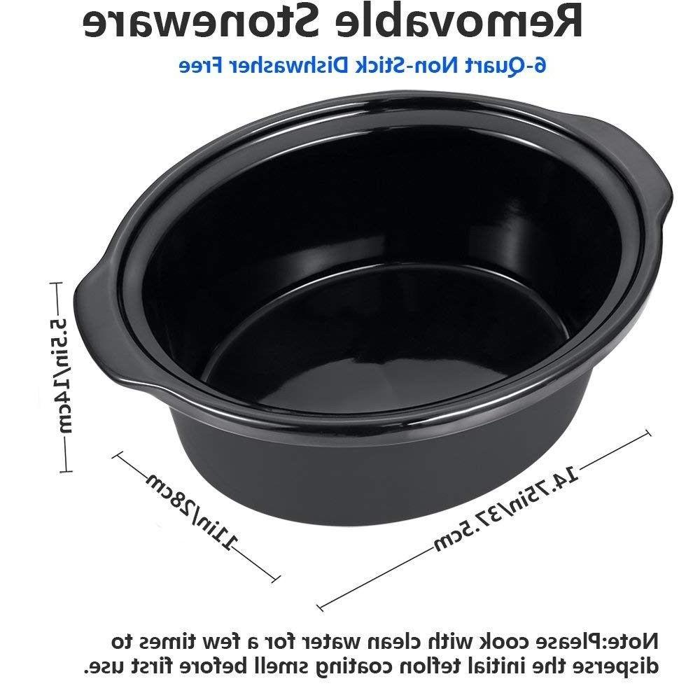 COCTIONE Slow Cooker Quart Oval