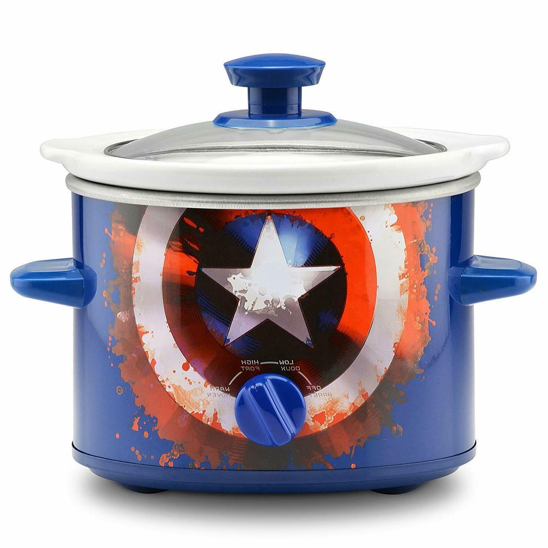 cooker captain america shield 2 quart slow