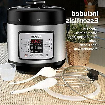 COSORI 7-in-1 6 Qt Electric Pressure Cooker, Cooker, Rice Cooker,