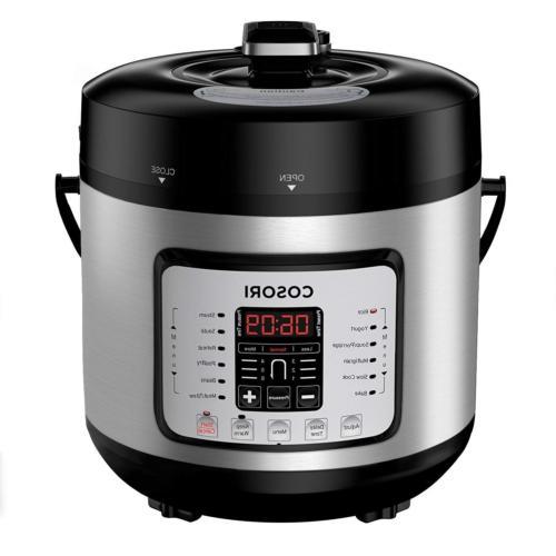 COSORI 7-in-1 6 Qt Electric Pressure Cooker, Slow Cooker, Ri